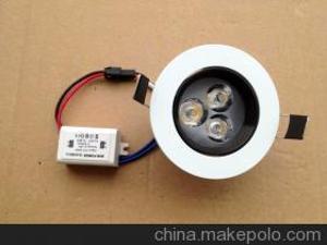 【亚韩照明】供应可调光LED天花灯筒灯防眩光射灯3W全套 高亮