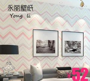 现代几何波浪条纹无纺布墙纸现代简约电视机墙沙发背景壁纸