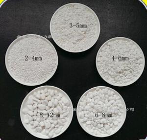金宏合力供应白色石子磨圆鹅卵石地台装饰彩石小石头