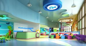 江苏室内游乐园pvc地板,博高室内儿童游乐场塑胶地板