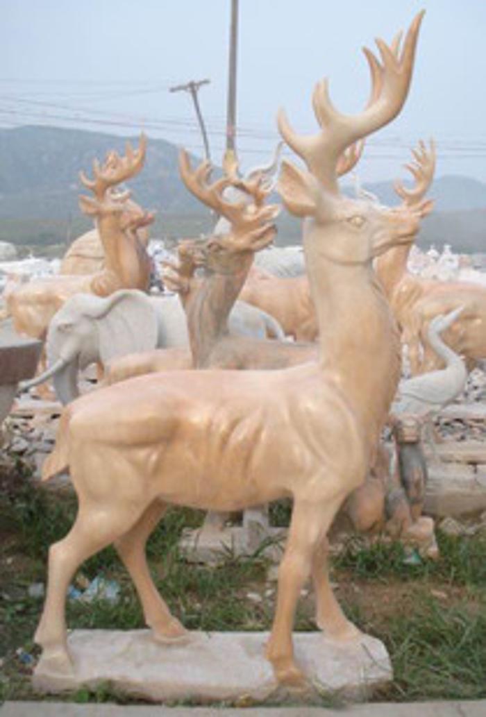 商品详情-生产供应 精美动物石雕工艺品 仿古汉白玉鹿