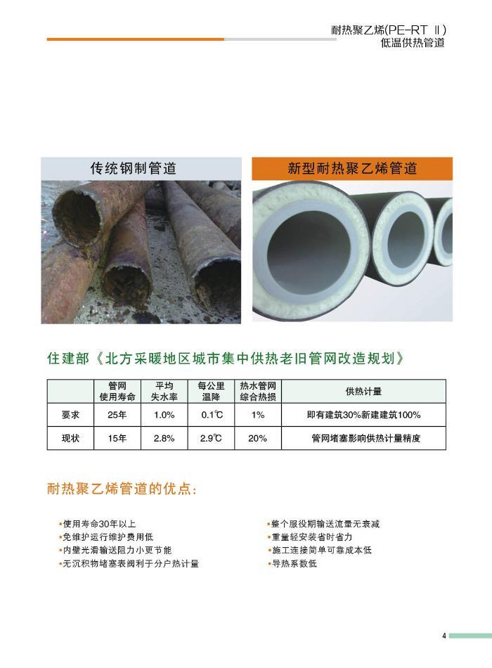 耐热聚乙烯(PE-RT)供暖管材