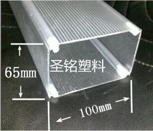 专业生产环保PC管 透明管 Pc磨砂方管材 亚克力管 品质保证