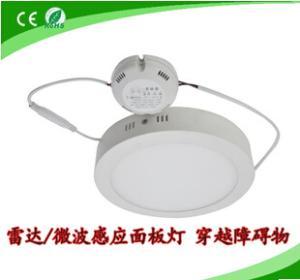 LED感应面板灯 防雾雷达感应明装面板灯