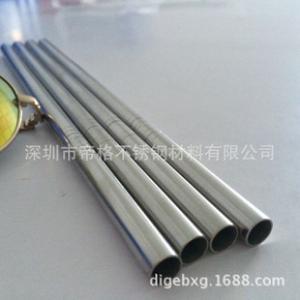现货直销不锈钢吸管 304不锈钢直吸管 无压槽吸管 304金属搅拌棒