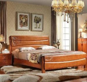南康简约现代白色全实木床1.8米双人床橡木气压高箱储物1.5米婚床