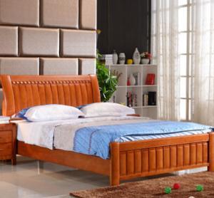 南康实木床 双人床1.5/1.8M 高箱储物床 橡木床特价包邮 厂家直销