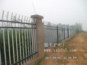 锌钢护栏|带弯防攀爬护栏|房地产组装防盗围墙护栏河南栏杆厂429