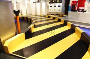 博高公司展厅吸音PVC塑胶地板,展览馆耐磨塑胶地板