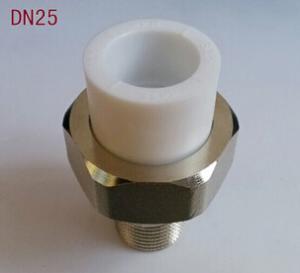優質黃銅加厚防爆PPR銅活接 外牙PPR活接頭 專用給水管材管件
