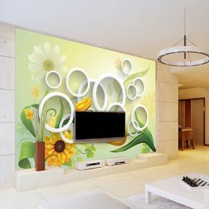 无缝墙布 墙纸 3D立体沙发电视背景墙 大型壁画 厂家个性定制