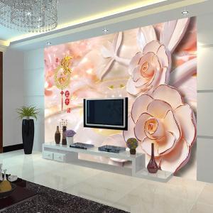 無縫個性墻布 墻紙 沙發電視背景墻 3D家和富貴 廠家定制一件代發