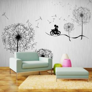 个性无缝墙布 墙纸 壁画 电视背景墙 浪漫蒲公英厂家定制一件代发