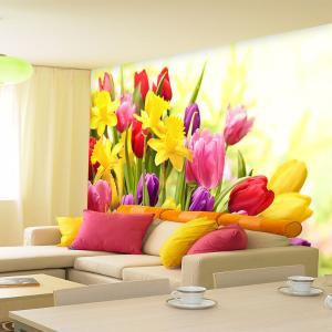 个性无缝墙纸墙布 客厅背景墙壁画 诱惑郁金香 厂家定制一件代发