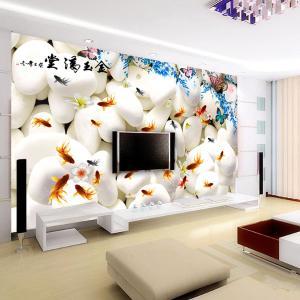 无缝墙布墙纸 3D电视背景墙 壁画 金玉满堂 厂家个性定制一件代发