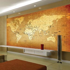 个性定制无缝墙布 墙纸壁画 电视背景墙世界地图厂家定制一件代发