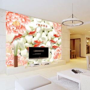 无缝墙布 金玉满堂沙发电视背景墙 墙纸 大型壁画 厂家个性定制