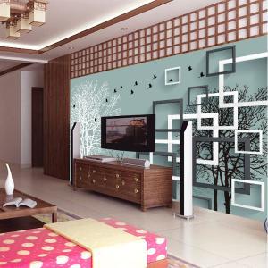 无缝墙布 卧室沙发电视背景墙 墙纸 个性定制 壁画 厂家直销