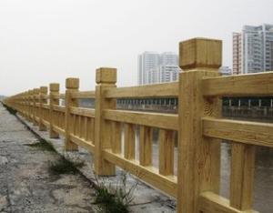 防木围栏  防大理石围栏水泥围挡