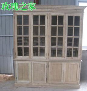 实木板式组合书柜 办公室书柜 原生态老榆木书柜 木制图书收拾柜