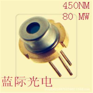 供应热销欧司朗小功率蓝光激光管450nm 80mw激光二极管、细光柱