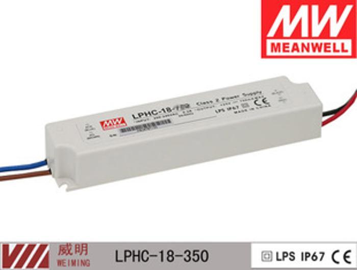 LPHC-18-350 深圳电源 正宗台湾明纬电源 18W 220V 2年保修期