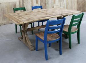 北京玫瑰之家家具 正宗百年老榆木门板餐桌 纯实木酒店大餐桌