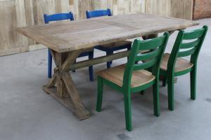 老门板餐桌 老榆木餐桌 原生态纯实木大餐桌 米自行腿仿古大餐桌