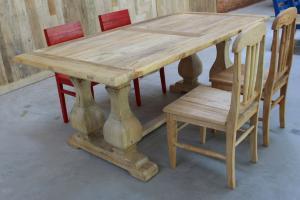 玫瑰之家酒店家具 百年榆木老门板餐桌 纯实木仿古大餐桌定制