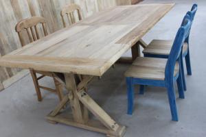 中式餐桌实木餐桌明清古典餐桌 仿古榆木家具老榆木圆腿桌子