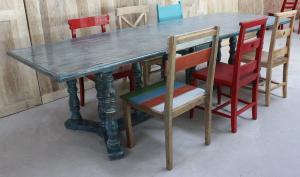 北京厂家新款老门板圆茶桌原木榆木餐桌老榆纯实木彩漆桌子定制