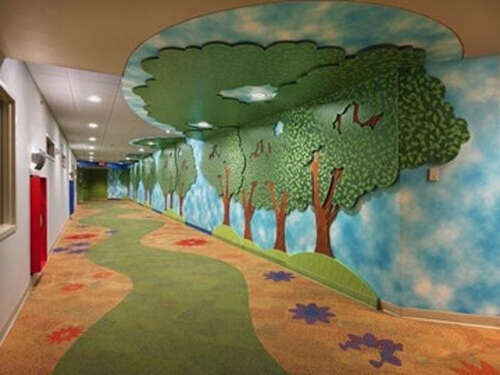 博高儿童医院防滑塑胶地板,儿童医院卡通pvc地板厂家