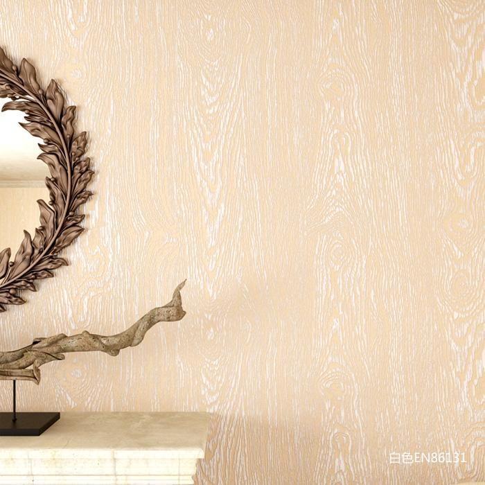 无纺布木纹中式发泡壁纸