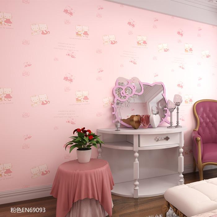 HELLO KITTY凯蒂猫儿童房无纺纯纸卧室壁纸