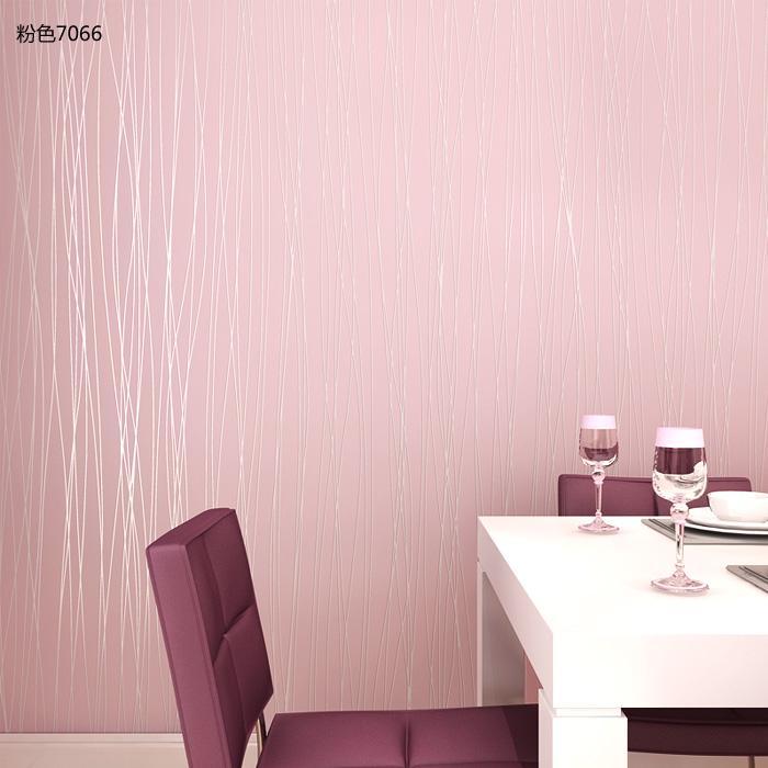 月光森林纯色线条无纺布卧室客厅壁纸