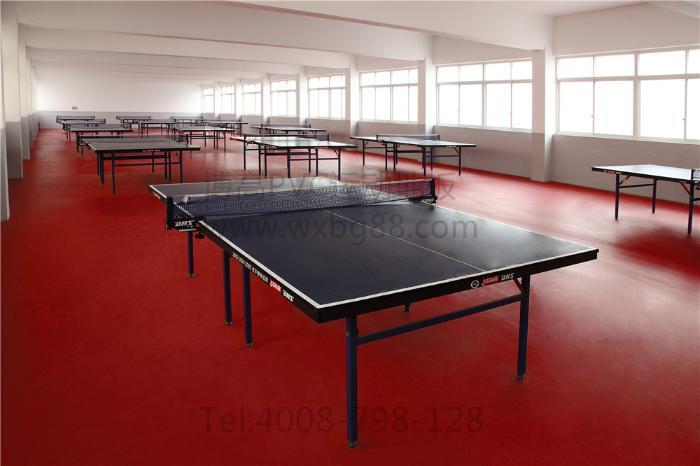 博高乒乓球pvc地板,江苏乒乓球防滑运动塑胶地板