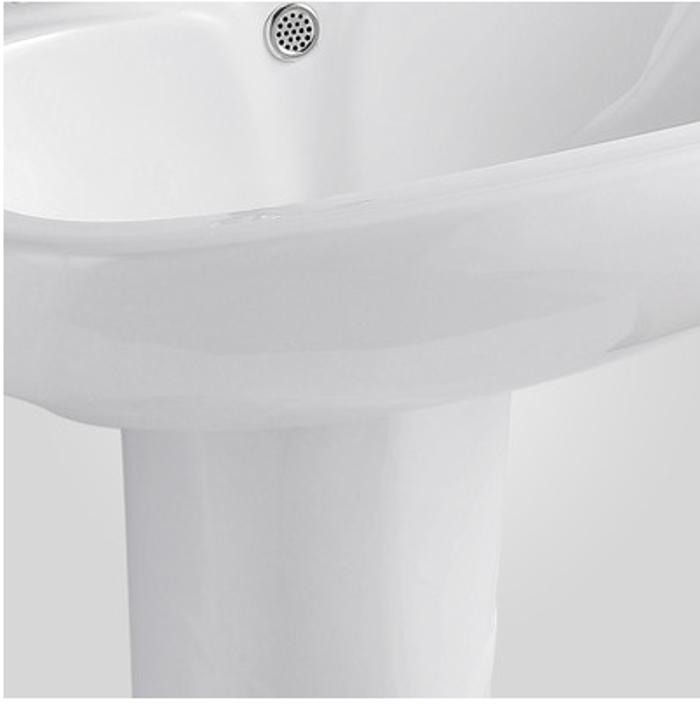 卫生间立柱盆 阳台落地立柱洗手盆 陶瓷洗脸盆