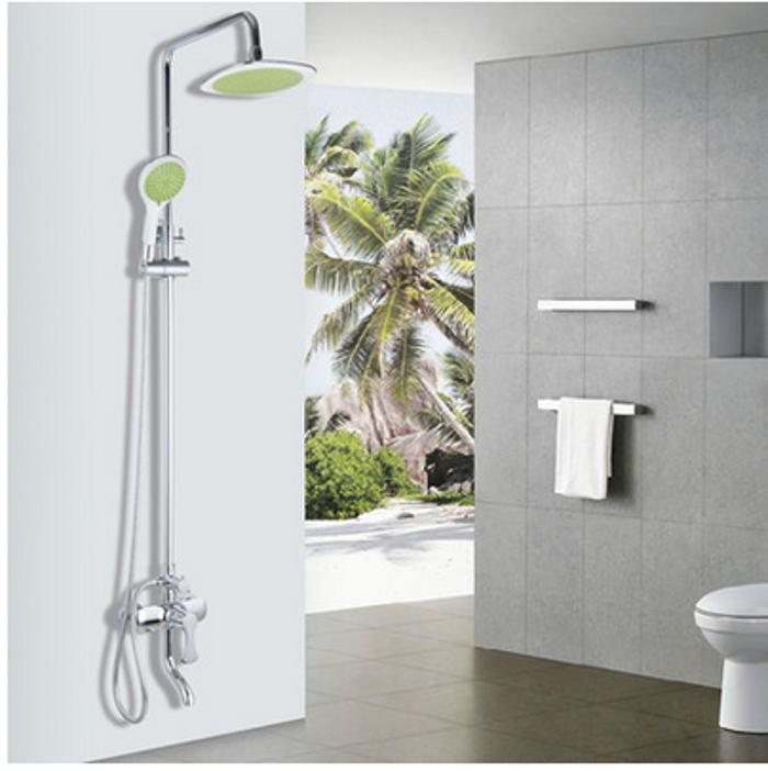 淋浴花洒套装 浴室冷热水龙头增压节水蓬喷头 全铜花洒套装淋浴器