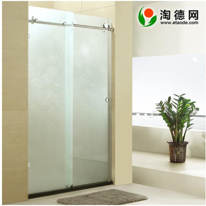 钢化玻璃整体淋浴房 弧扇型 简易整体浴室 淋浴房8mm