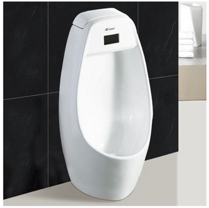 男士立式小便器 一体式陶瓷感应小便斗 落地式自动尿斗