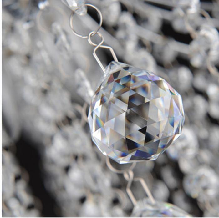 客厅LED水晶灯 大堂/走廊吊顶 奢华时尚灯具30#水晶球*67客厅