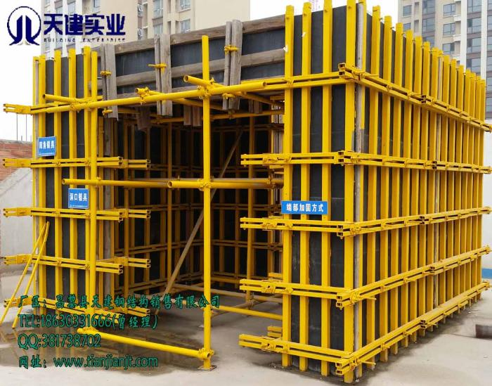 批发小方钢-C型钢-模板加固件-剪力墙支撑模板/天建供应