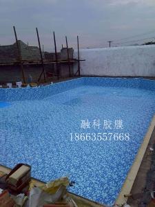 浅蓝色游泳池装饰材料