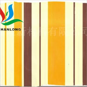 PVC彩色条纹夹网布 彩条遮阳篷布各色可选