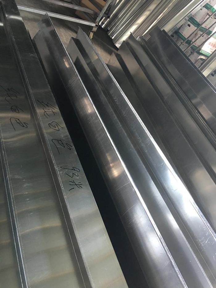 上海全網廠家直銷全套金屬彩鋁屋面天溝高樓排水鋁方管