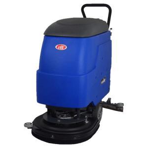 停车场清洗地面泥土沙粒威德尔手推式无线电动洗地机 清洗吸干一体机
