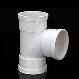 广东力西奇PVC排水管等径三通排污管顺水三通配件厂家