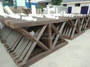 道路仿木護欄批發 X型仿木欄桿 仿木圍欄 棧道欄桿扶手 木紋護欄