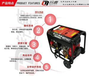 工程用5KW低噪音车载发电机