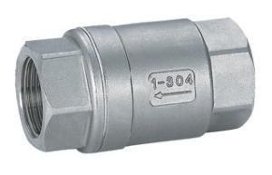 H12W不銹鋼立式絲口止回閥